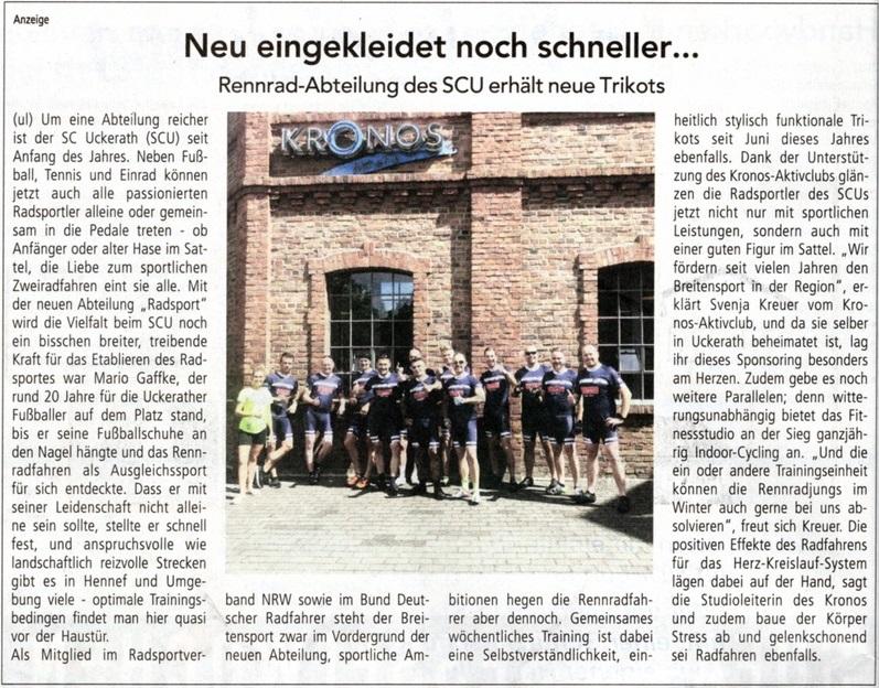 Zeitungsartikel aus einer Juli 2020 Ausgabe vom Hennefer Stadt Echo
