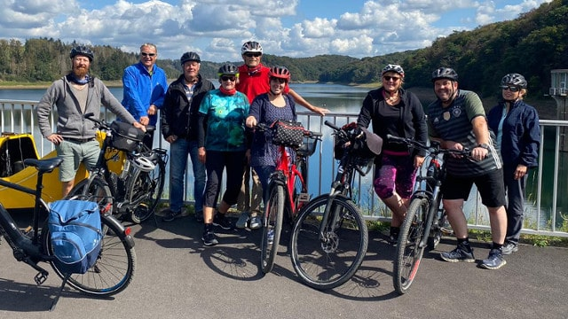 Gruppenfoto der SCU E-Bike Gruppe