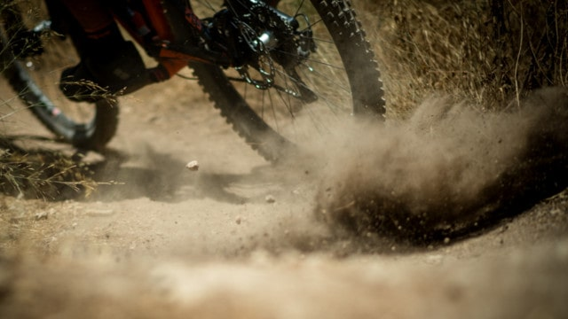 Mountainbike im Dreck
